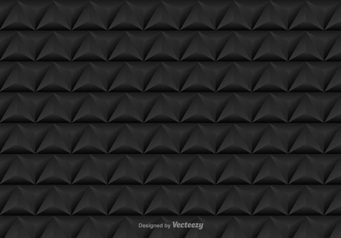 Vector seamless pattern with black triangles