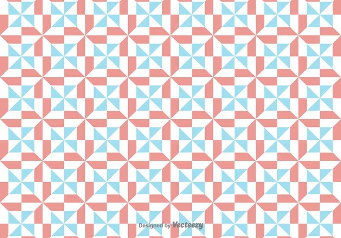 Vector Simple Pattern With Red And Blue Geometric Figures