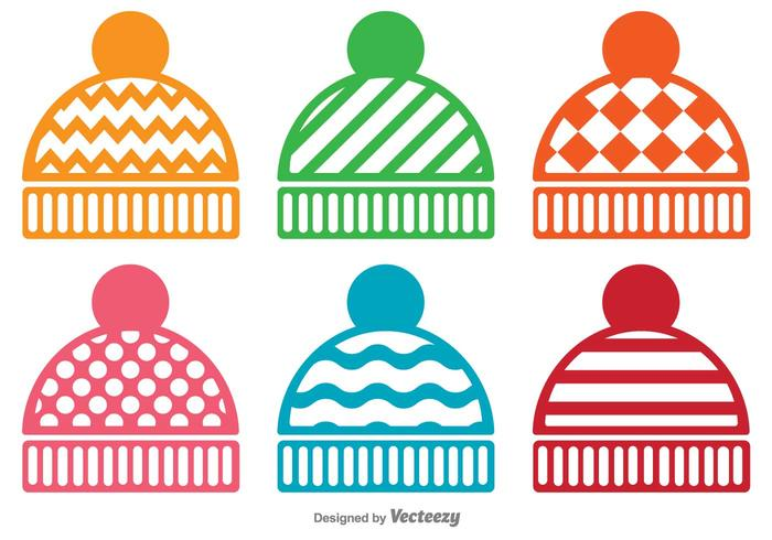 Vektor Set Of Winter Hat Icons