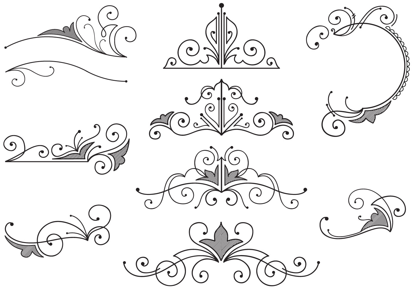 vintage ornaments vectors