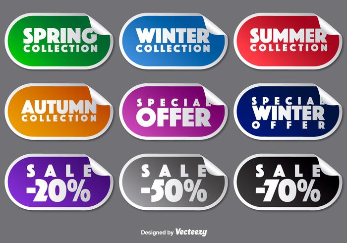 Vector Collection Of Promotional Stickers