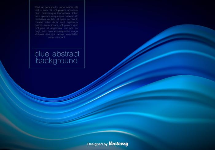 Vector Abstract Blue Waves