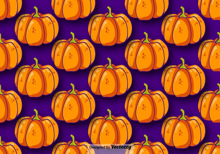 Pumpkin Seamless Pattern Vector