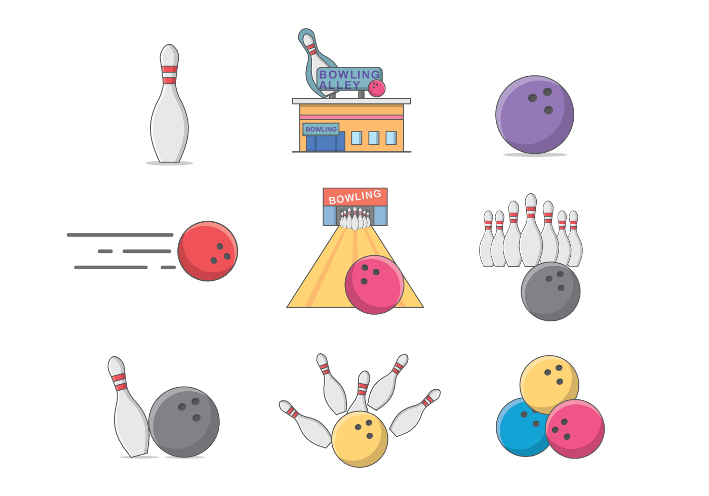 bowling pins free vector art  1840 free downloads Bowlin Alley bowling alley lane clipart