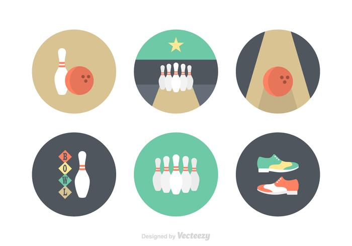 Free Flat Bowling Vector Icons