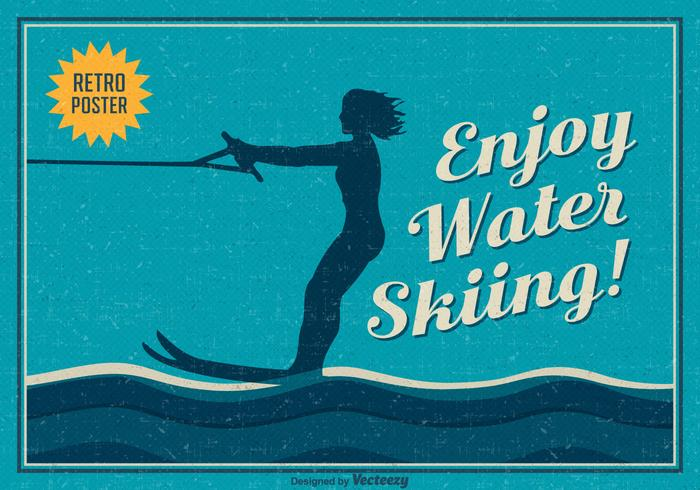 Free Enjoy Water Skiing Vector Poster