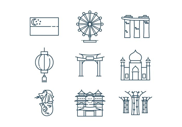Free Singapore Icon Vector