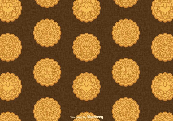 Free Mooncake Vektor Nahtlose Muster