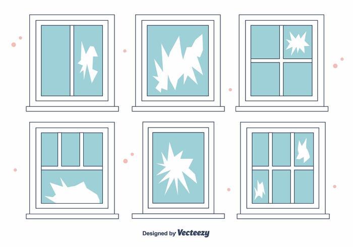 Free Broken Window Vector
