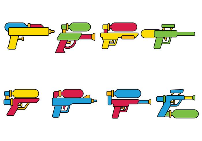 Water Gun Vector