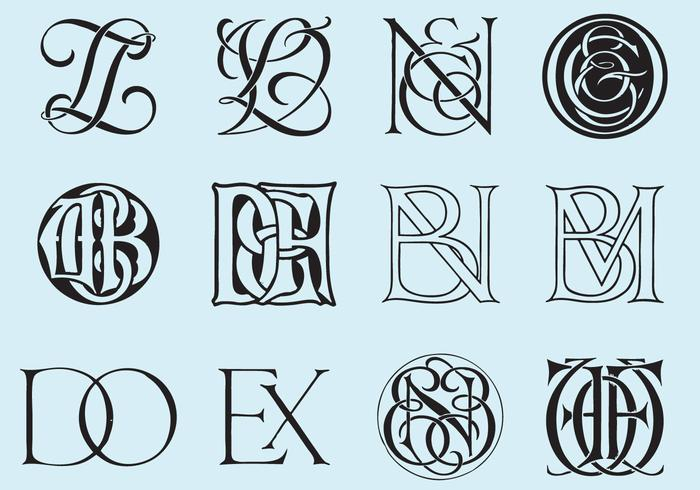 Monogrammi classici vettore