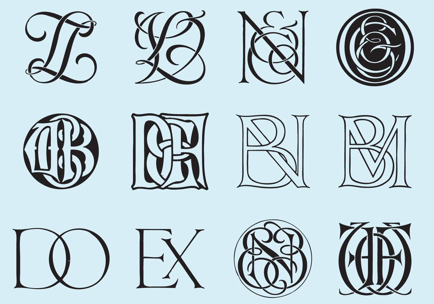 Monogramas clásicos - Descargue Gráficos y Vectores Gratis