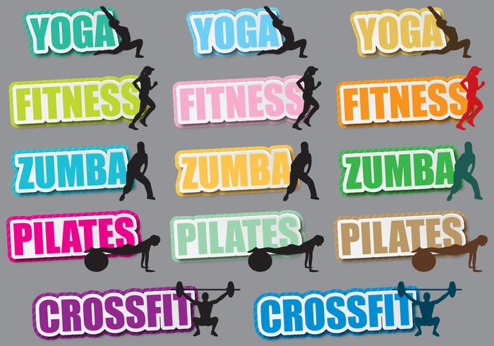 Fitness Titles vector