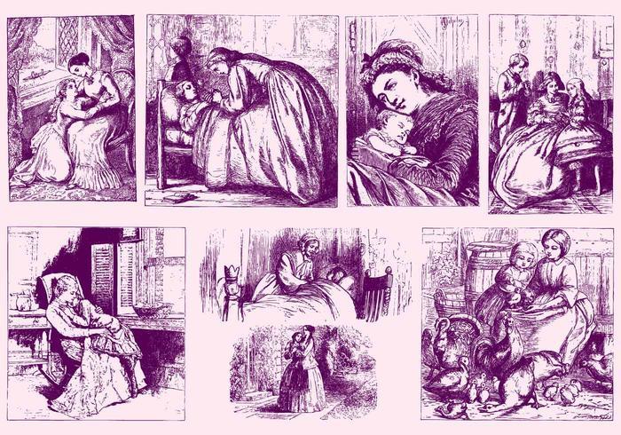 Vintage Mother Illustrations