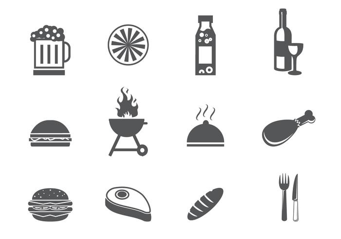 BBQ and Tailgating Icon Set