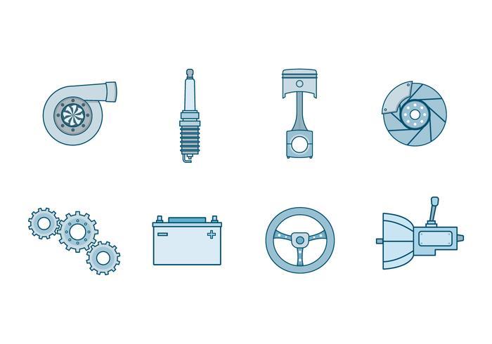 Gratis Automotive Parts Vector