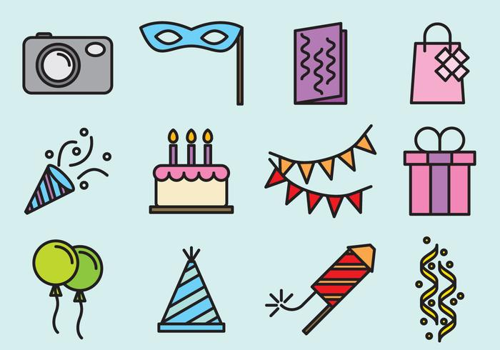 Cute Party Icons