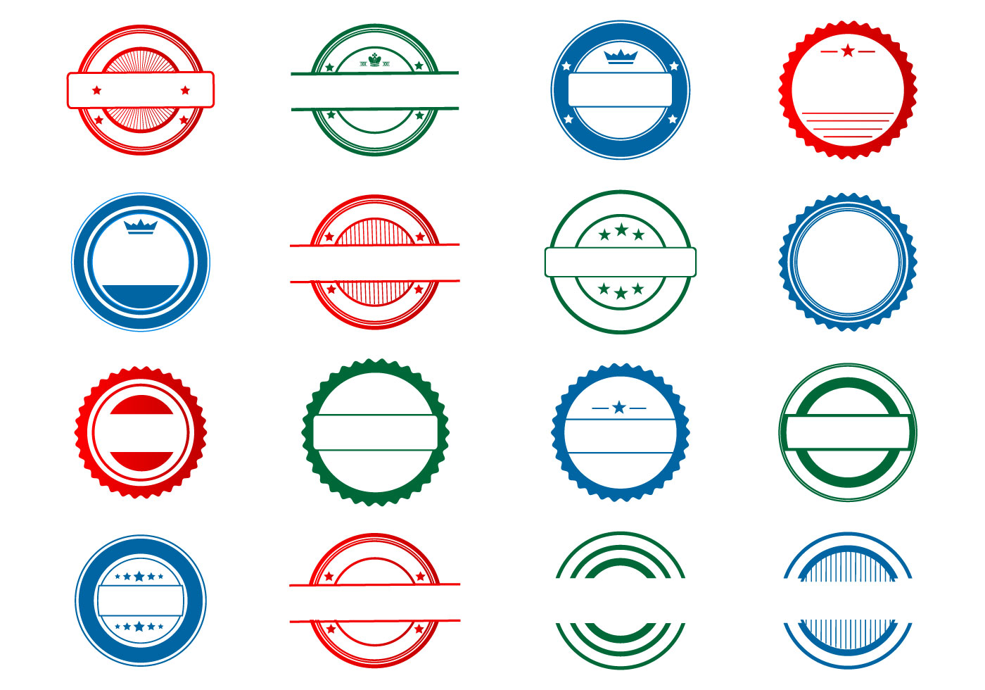 Template Stempel vector collection - Download Free Vector Art, Stock ...