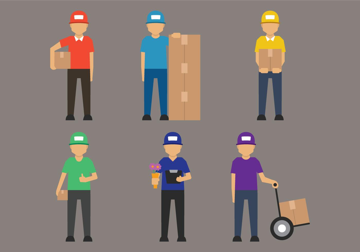 Delivery Man Vector Download Free Vector Art Stock
