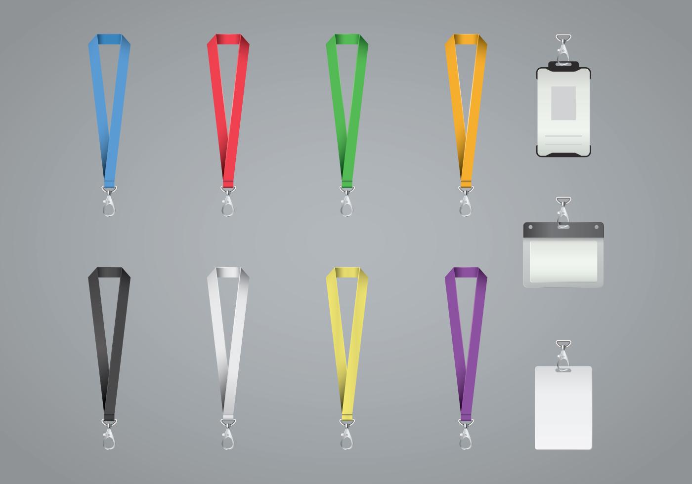 Free Lanyard And Badge Vector - Download Free Vector Art, Stock ...