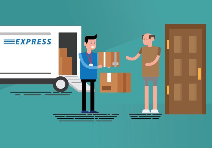 Free Delivery Man Illustration