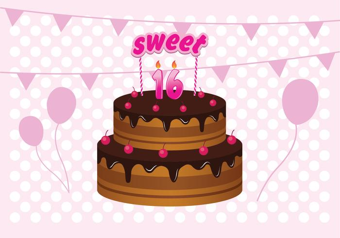 Birthday Cake Images Vektor ~ Sweet birthday cake illustration download free vector art