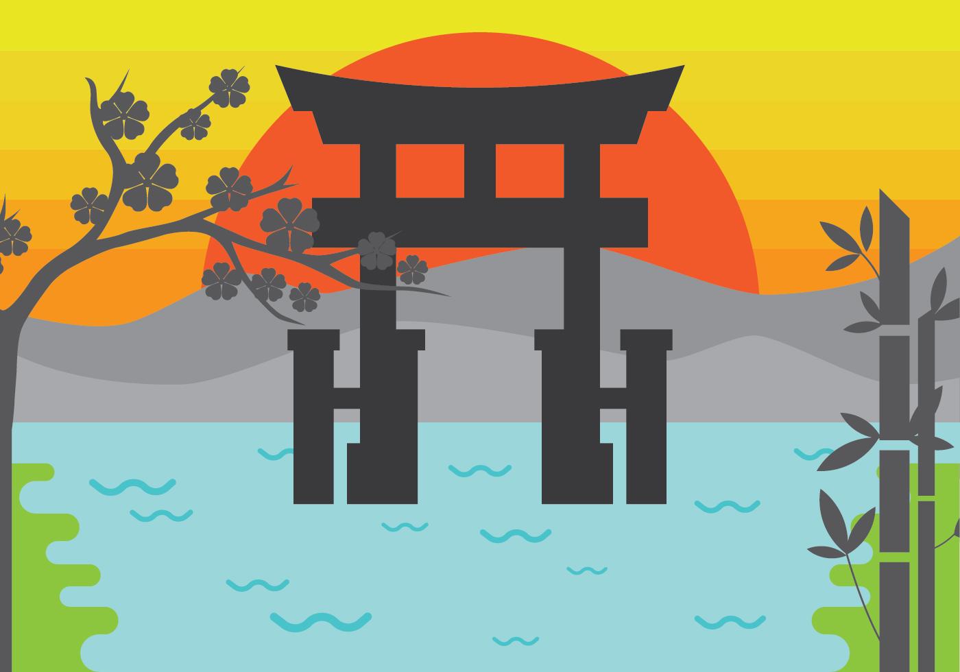 Free Illustration of Torii Gate - Download Free Vector Art ...