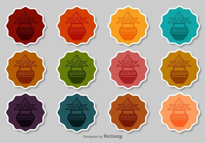 Kalash Vector Badges Set