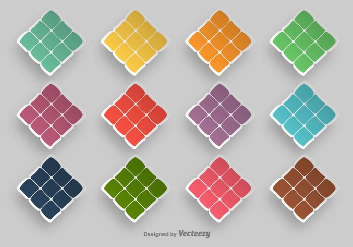 Ketupat Symbol Vector Icons