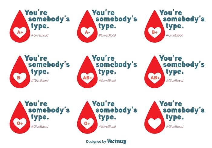 Blood Drive Vector Messages