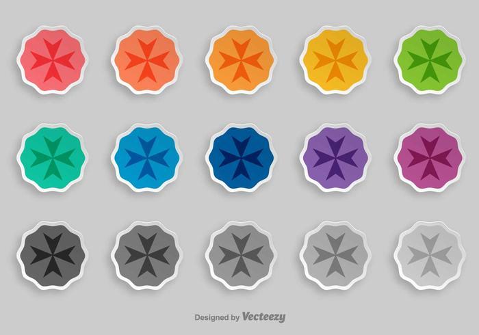 Maltese Cross Vector Badges