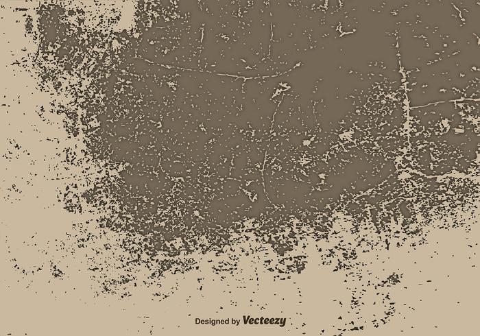 Alte Brown Wand Illustration - Vector Grunge Oberfläche