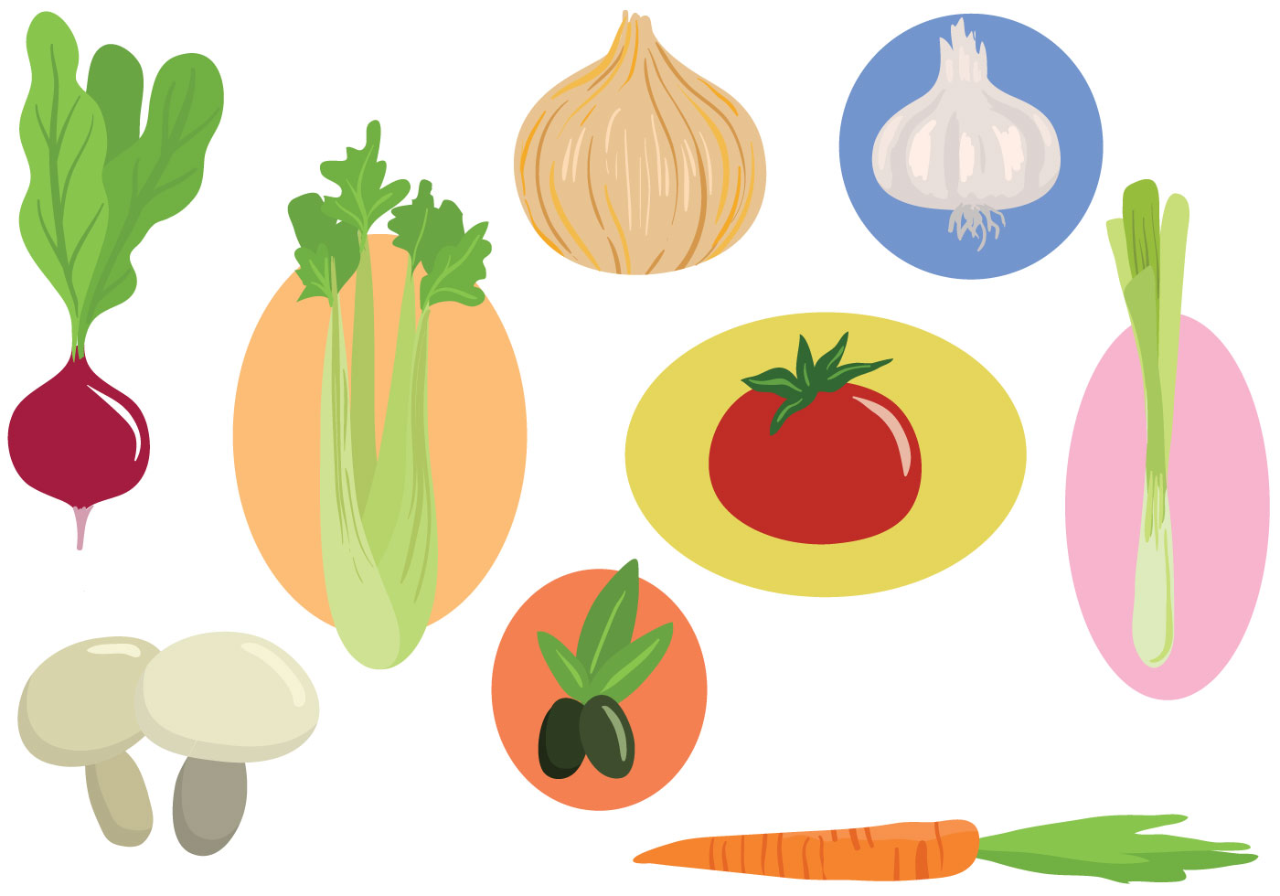 Free Vegetables Vectors - Download Free Vector Art, Stock ...