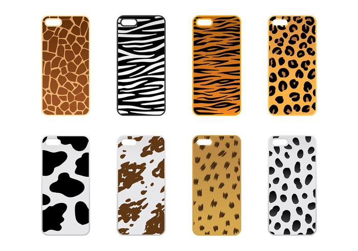 Phone Case Animal Texture Vector