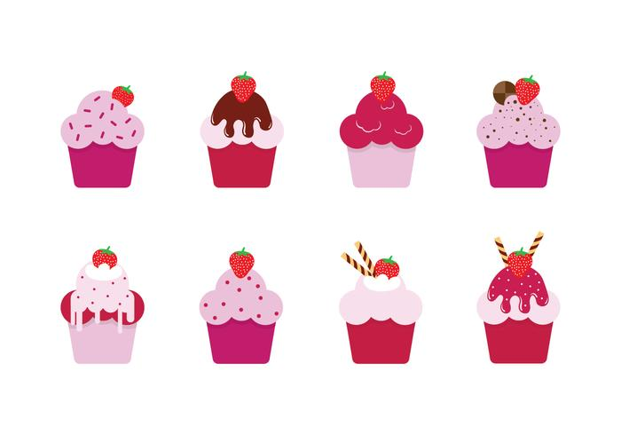 Free Strawberry Shortcakes Vectors