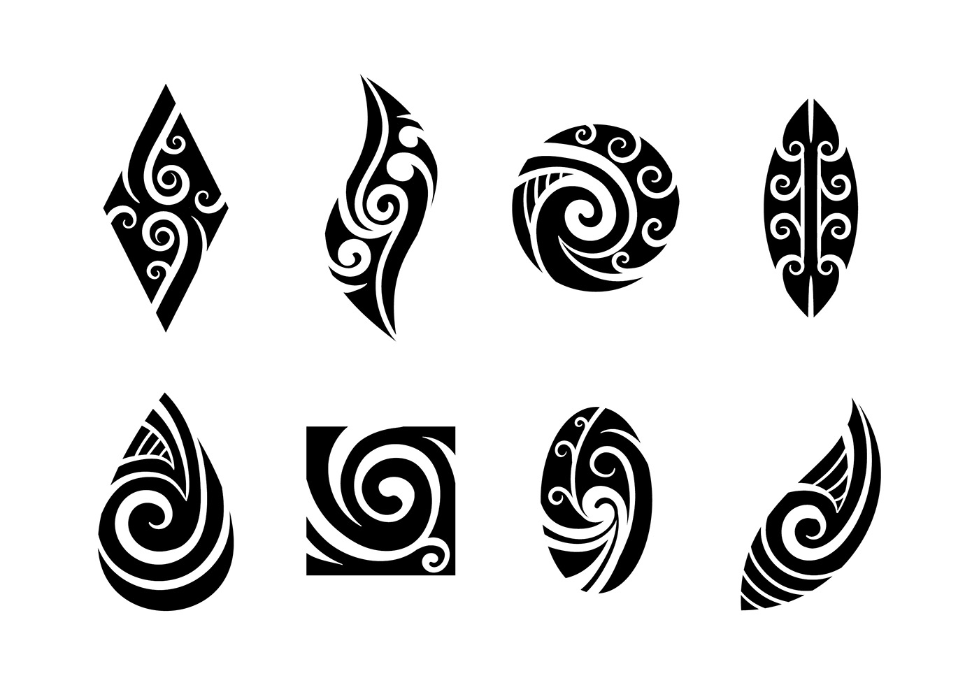 Small Maori Tattoo Designs: Download Free Vectors, Clipart