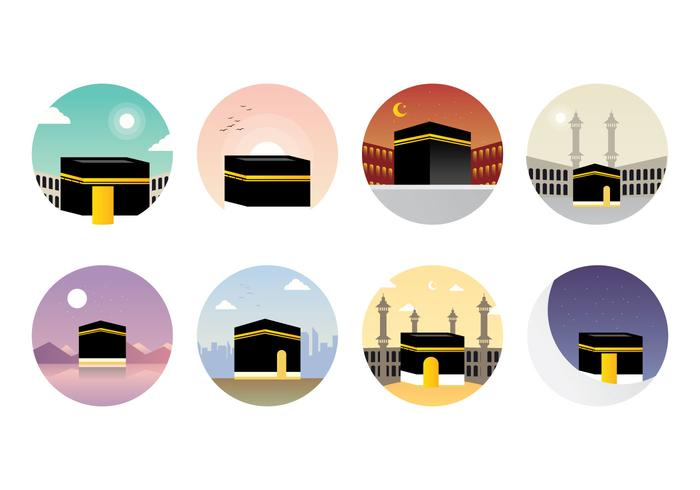Vector libre de la Kaaba de Makkah