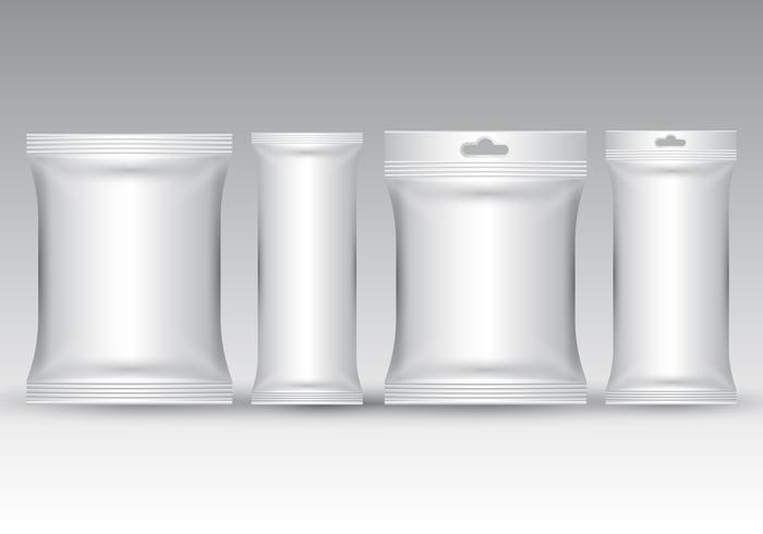 Realistic Sachet Packaging Vector
