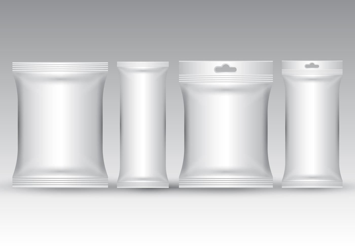 Realistic Sachet Packaging Vector Download Free Vector