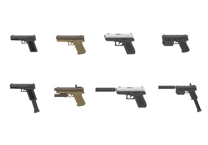 Vector libre de la pistola de Glock