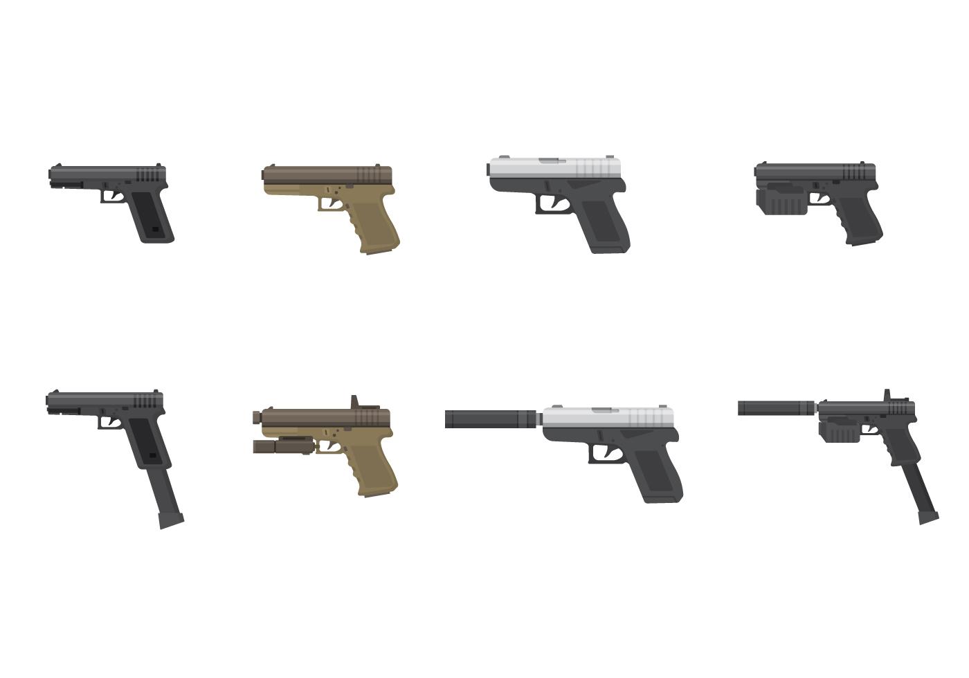 Free Glock Pistol Vector - Download Free Vector Art, Stock ...