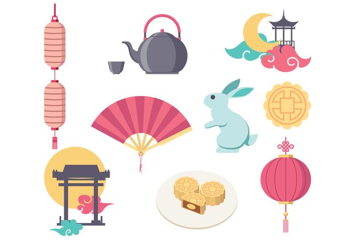 Gratis Mid Autumn Festival Vector Icon