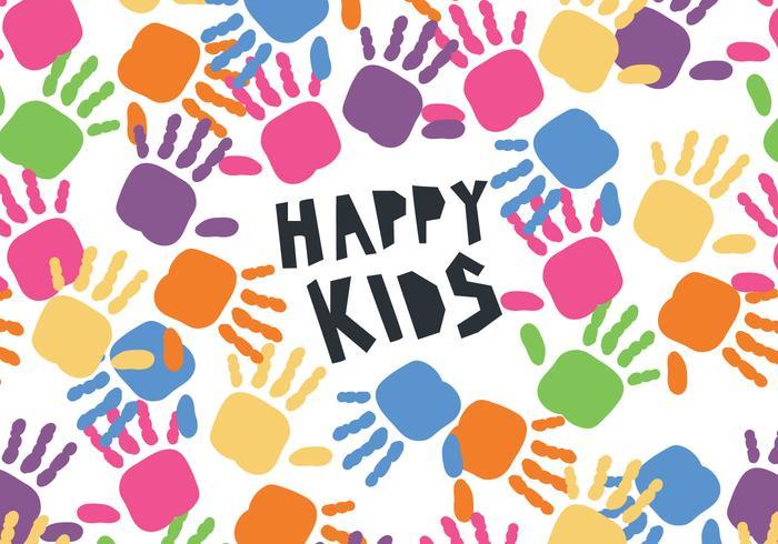 Kids' Hands Children's Day Vector