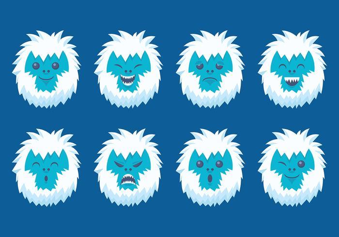 Kostenlose Yeti Icons Vektor