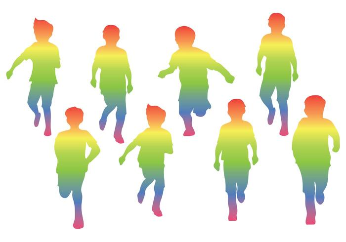 Childrens Day Silhouette Vector