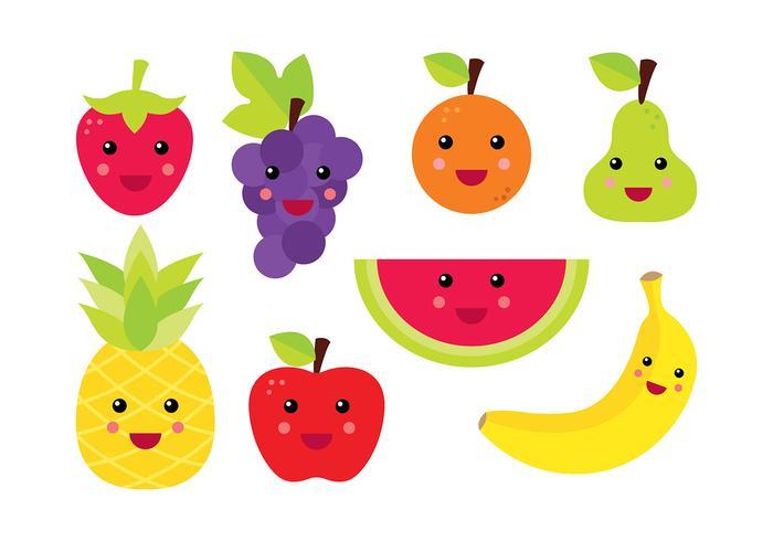 Fruit Fridge Magnet Vector
