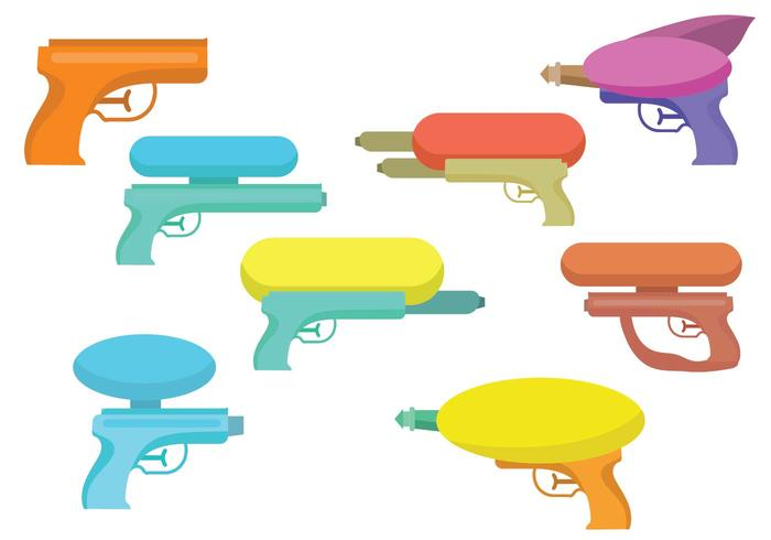Free Water Gun Vector Set