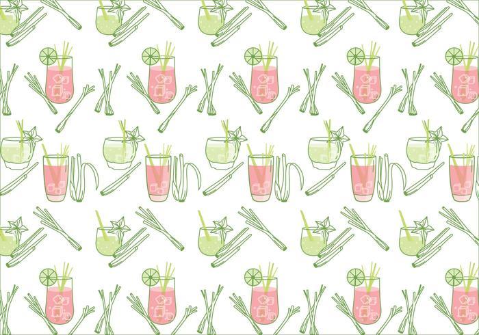 Lemongrass Pattern Vector