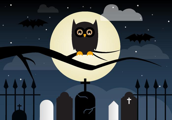 Búho del vector de Halloween