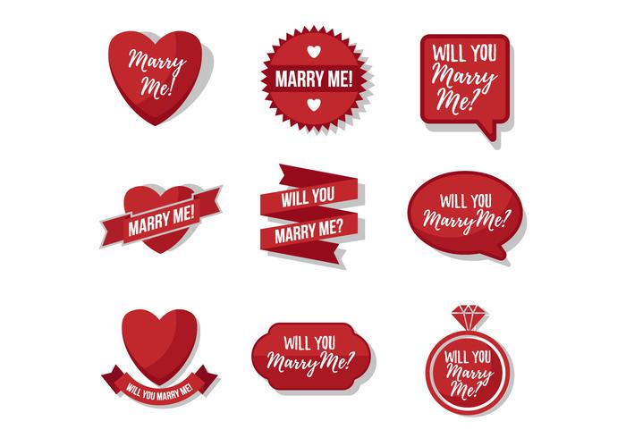 Free Marry Me Sticker Vector